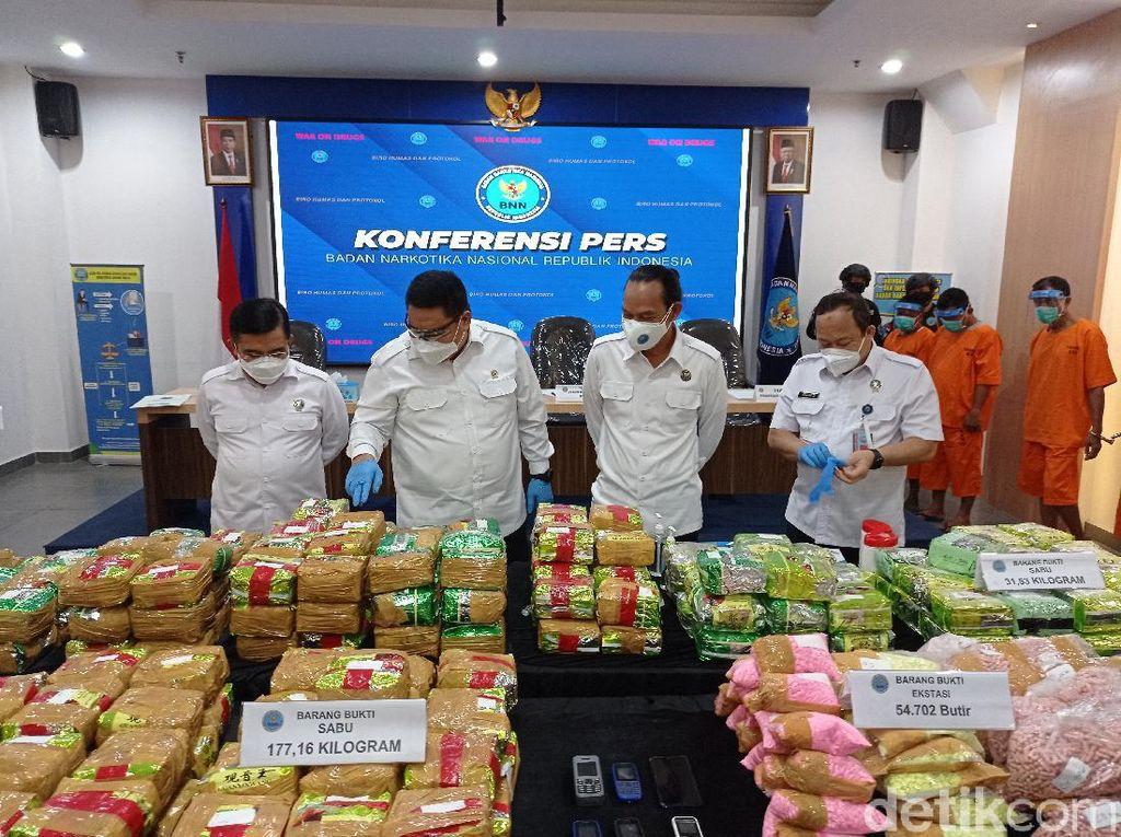 BNN Ungkap Alur Penyelundupan 211 Kg Sabu di Sumsel dan Aceh