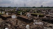 Lahan Pemakaman COVID-19 di Surabaya Sudah Terpakai 3 Blok