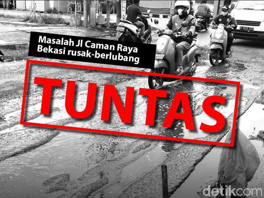Before-After Perbaikan Jl Caman Raya Bekasi: Dulu Rusak kini Mulus