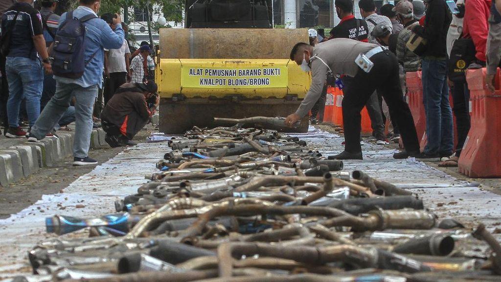 2.000 Knalpot Racing di Medan Dimusnahkan Polisi