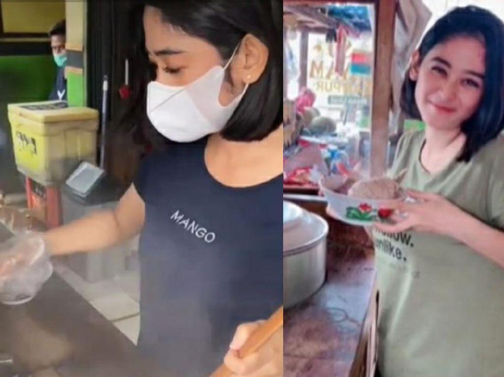 Viral Penjual Mie Ayam Bakso Cantik di Sentul, Netizen: Langsung OTW!