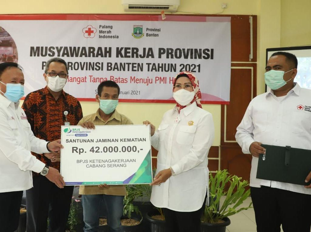 PMI Banten Jamin Perlindungan Relawan Melalui BPJS Ketenagakerjaan