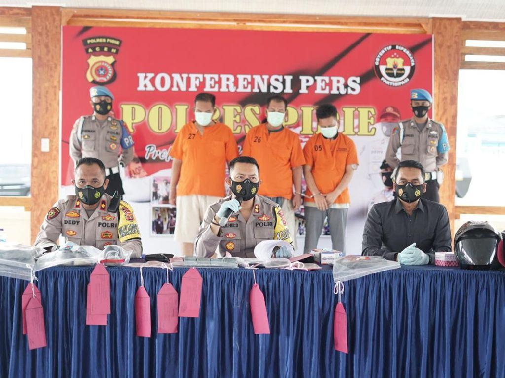 3 Pria asal Palembang Pinjam Uang ke Rentenir untuk Modal Merampok di Aceh