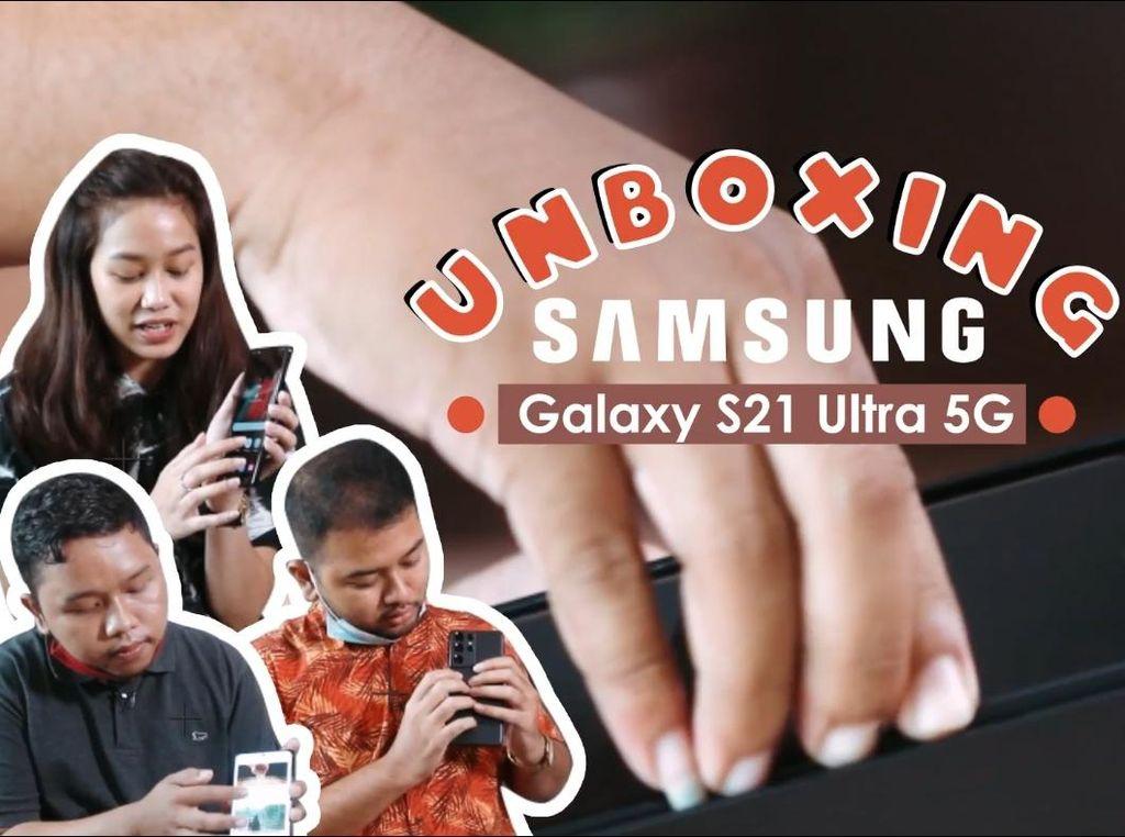 Rame-rame Ngeroyok Galaxy S21 Ultra dari Samsung