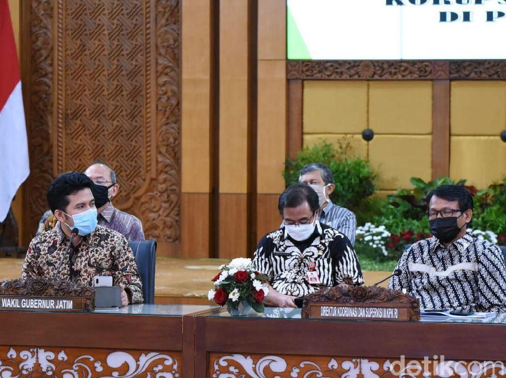 Diskusi Bersama KPK, Wagub Emil Berkomitmen Cegah Korupsi di Jatim