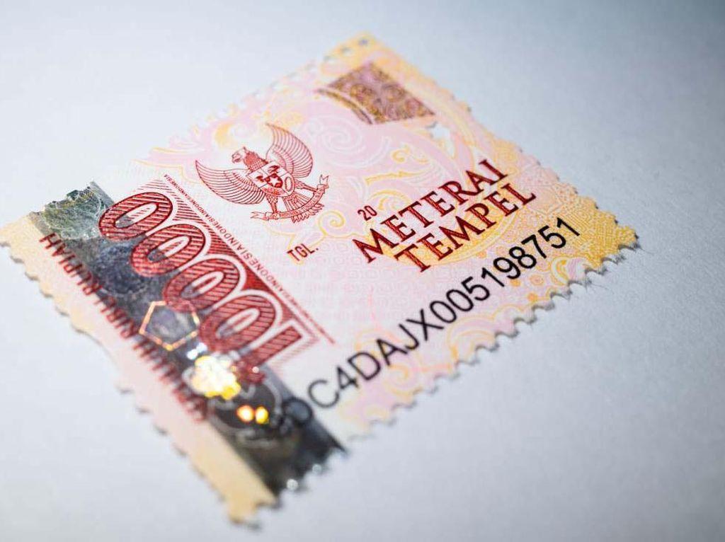 Intip Lagi Tampilan Meterai Rp 10.000 yang Baru Dirilis