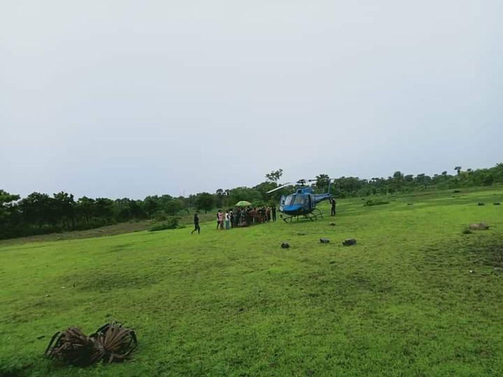 Cuaca Buruk, Helikopter BPBD Sulsel Mendarat Darurat di Jeneponto