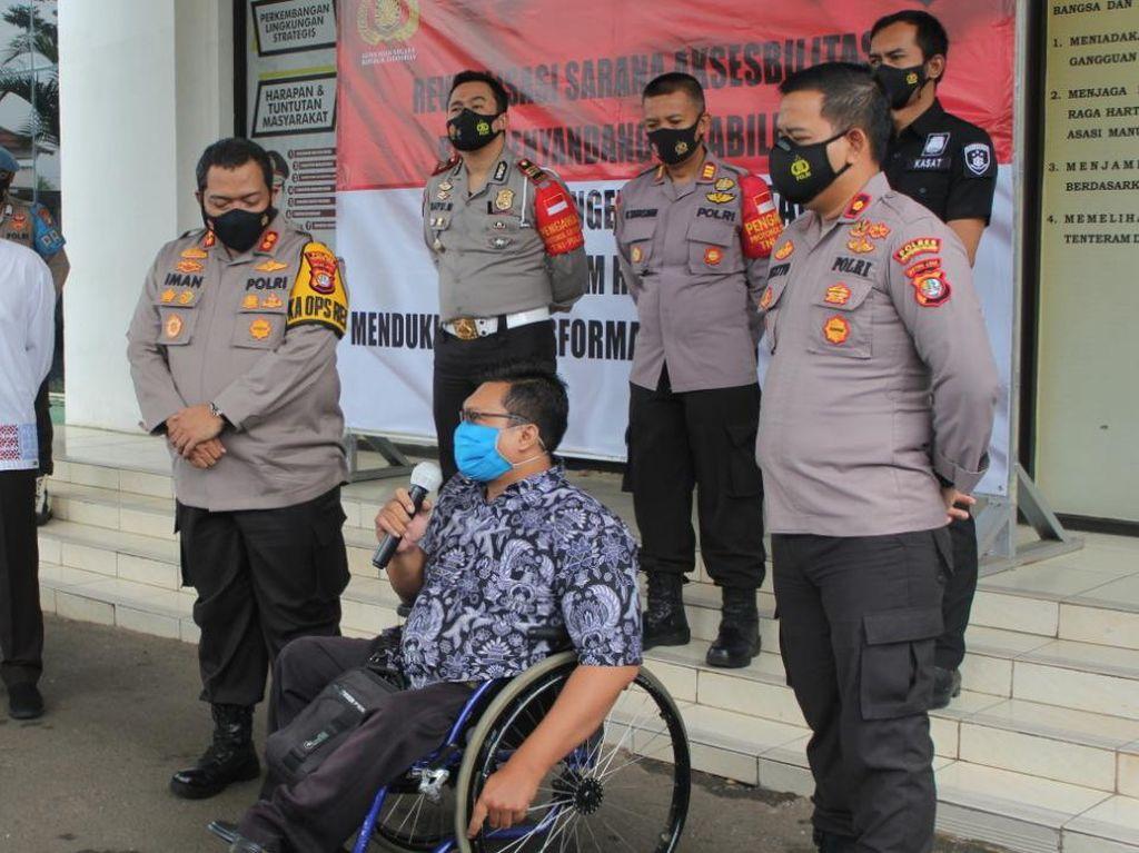 Wujudkan Program Kapolri, Polres Tangsel Bangun Fasilitas Ramah Disabilitas