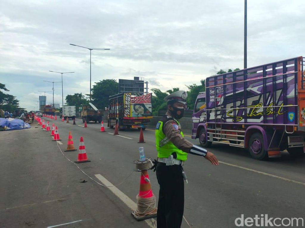 Rekomendasi ITS Keluar, Lajur Tol Surabaya-Gempol yang Ditutup Sudah Dibuka