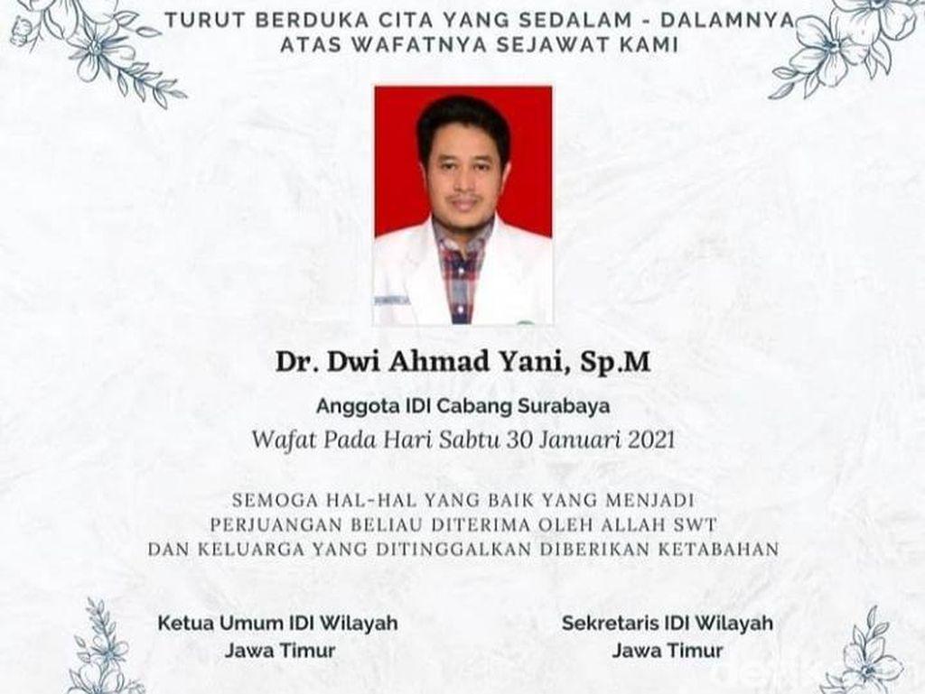 Dokter Mata di Surabaya Meninggal Positif COVID-19