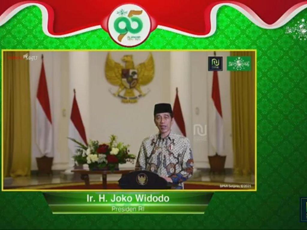 Harlah NU Ke-95, Jokowi Harap Peran Kiai-Santri Bangun Indonesia