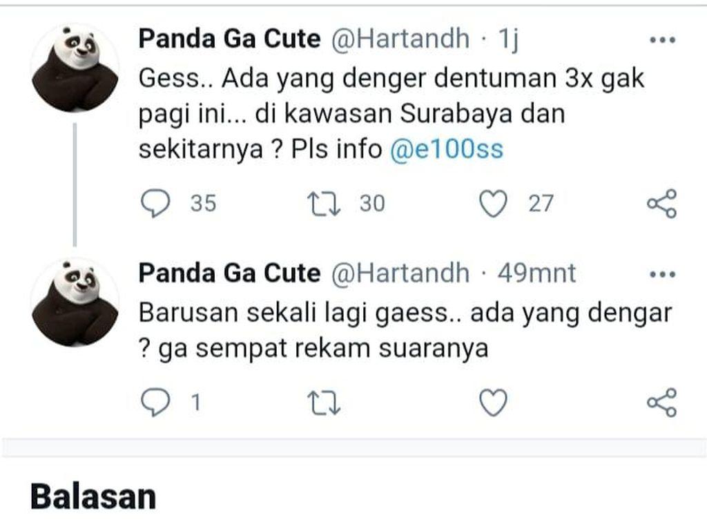 Dari Mana Suara Dentuman Keras yang Kagetkan Warga Surabaya Pagi Tadi?