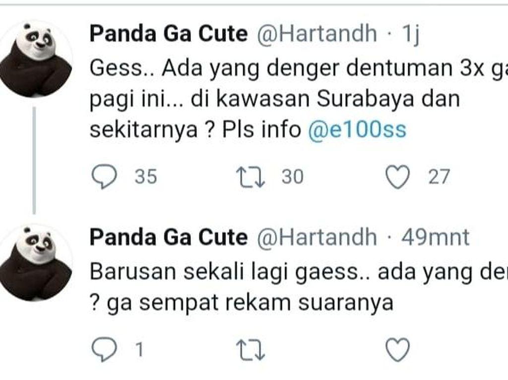 Suara Dentuman Keras Kagetkan Sebagian Warga Surabaya