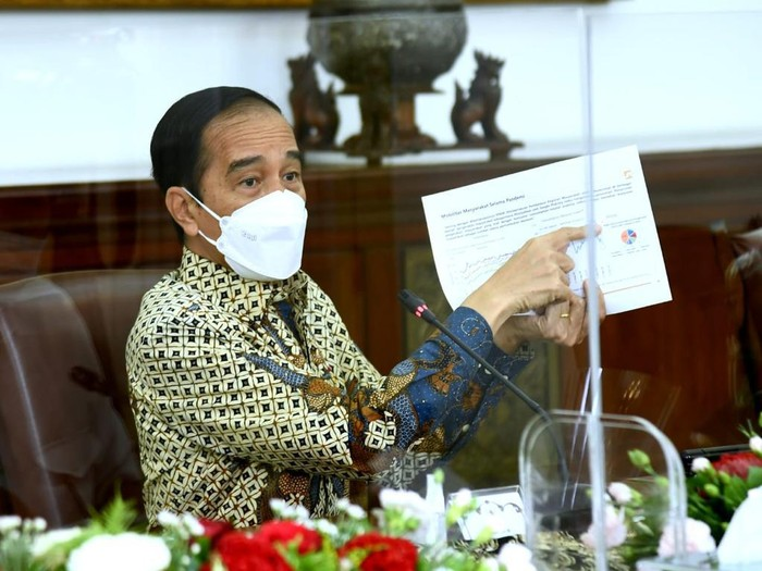 Jokowi pimpin ratas soal PPKM (Dok. Biro Pers Setpres)