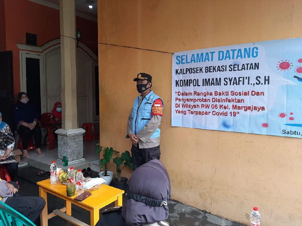 27 Orang di Margajaya Bekasi Positif COVID, Polisi Bagikan Sembako-Vitamin