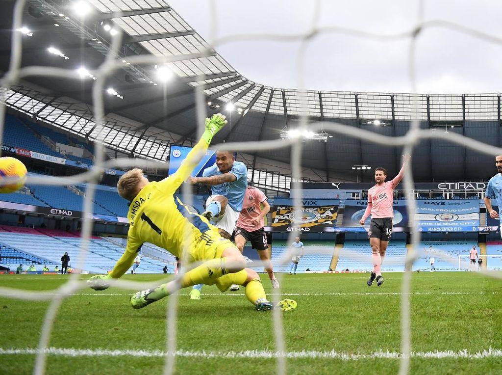 Man City Vs Sheffield: Gol Gabriel Jesus Menangkan The Citizens