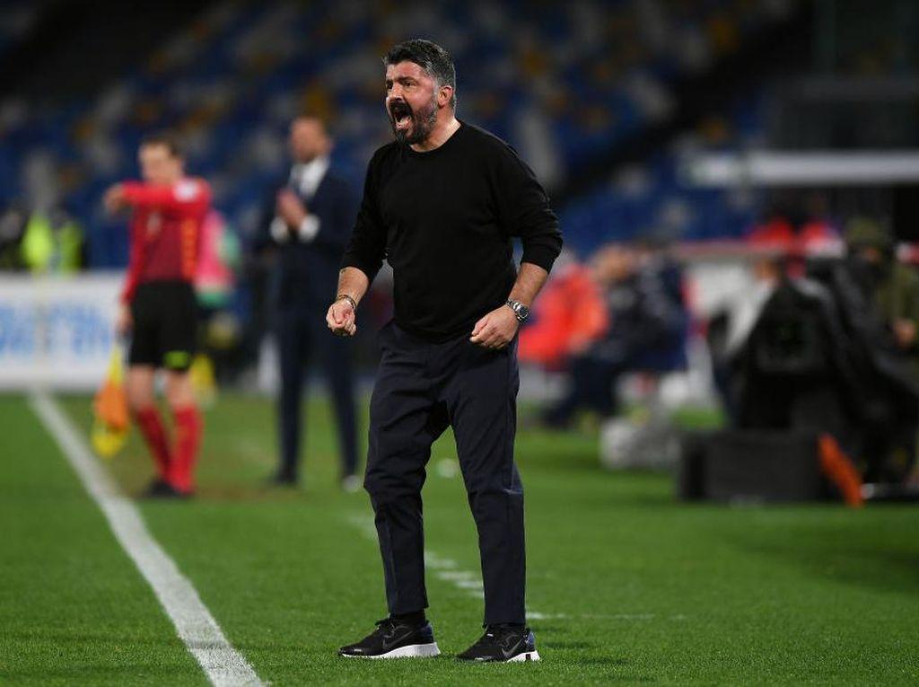 Napoli Masih di Papan Atas Serie A, Gattuso Bingung Digosipkan Dipecat