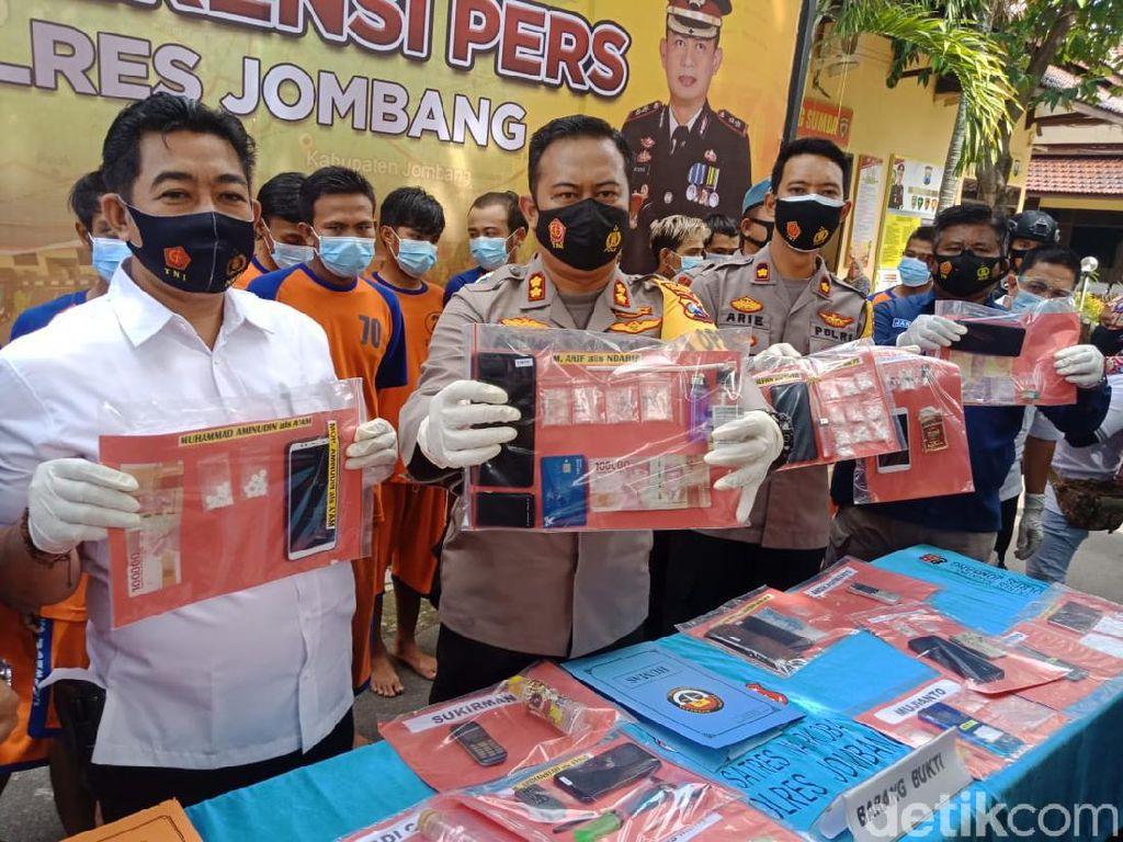 41 Pengedar dan Pengguna Narkoba Diringkus di Jombang Sepanjang Januari 2021