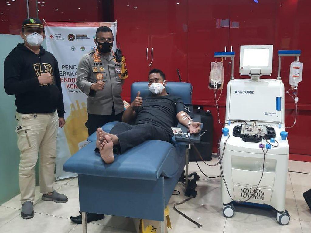 Lolos Screening, 42 Polisi di Surabaya Donor Plasma Konvalesen