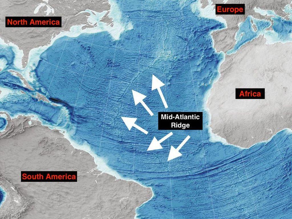 Samudera Atlantik Melebar, Jarak Amerika Menjauh dari Eropa dan Afrika