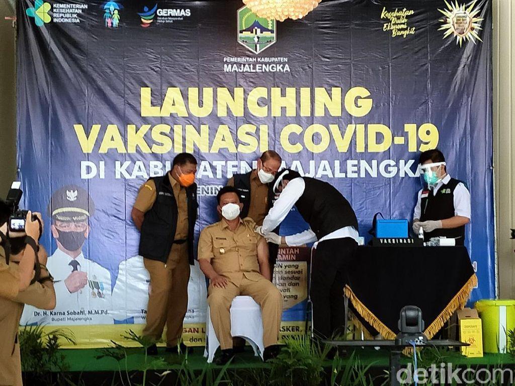 Vaksinasi COVID-19 di Majalengka, Bupati-Ketua DPRD Tak Lolos Skrining