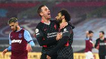 Dua Gol Gemilang Salah Saat Liverpool Membungkam West Ham