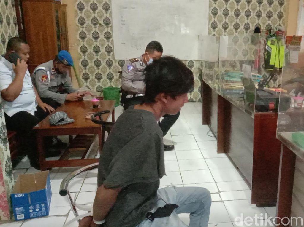 Pengakuan Sopir Angkot Ugal-ugalan Senggol Polisi Hingga Jatuh