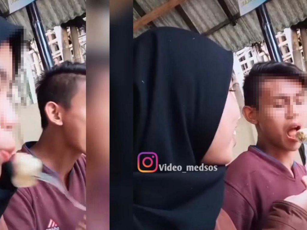 Bucin Banget! Pasangan Ini Jilat-jilatan Siomay yang Bikin Geli Netizen