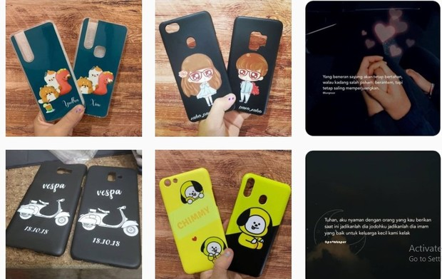 Instagram custome case couple joracasecoupleFoto:instagram/joracasecouple