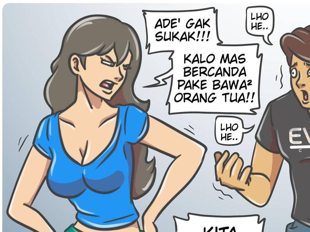 Komik Strip Om Bebih Disebut Nakal, Pernah Dilarang Instagram
