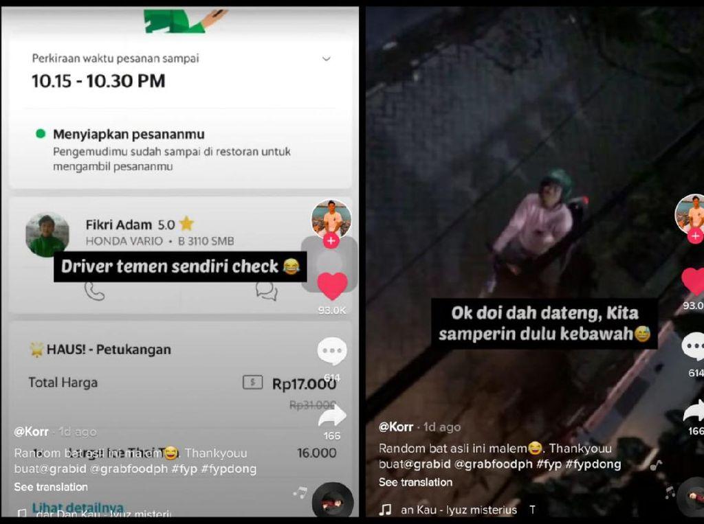 Ngakak! Pesan Makanan Via Ojol, Netizen Ini Dilayani Teman Sendiri