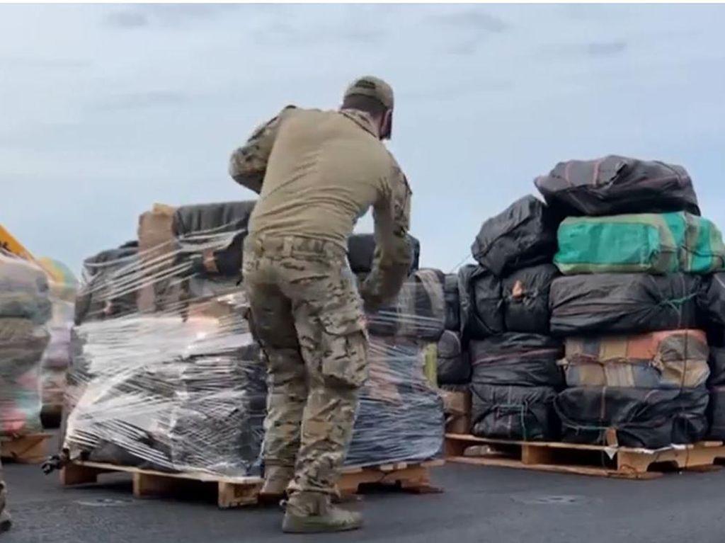Penampakan Narkoba Rp 2,9 T Hasil Tangkapan Angkatan Laut AS