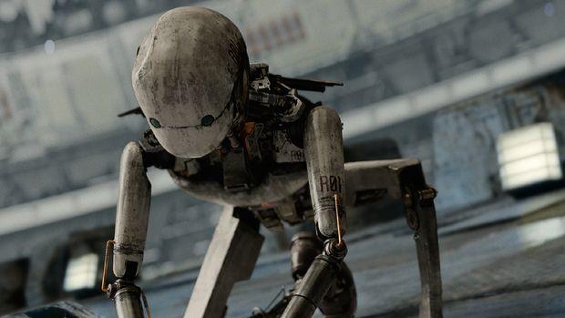 Robot Bubs (Yoo Hae-jin) dalam film Space Sweepers