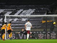 Wolves Vs Arsenal: Luiz Kartu Merah, The Gunners Tertahan 1-1 di Babak I