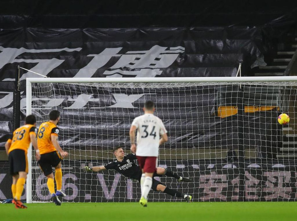 Wolves Vs Arsenal: Luiz Kartu Merah, The Gunners Tertahan 1-1 di Babak I