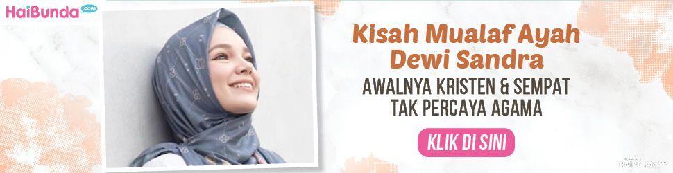 Banner Ayah Dewi Sandra Mualaf