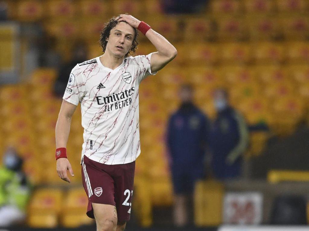 David Luiz Operasi Lutut, Absen Bela Arsenal Beberapa Pekan