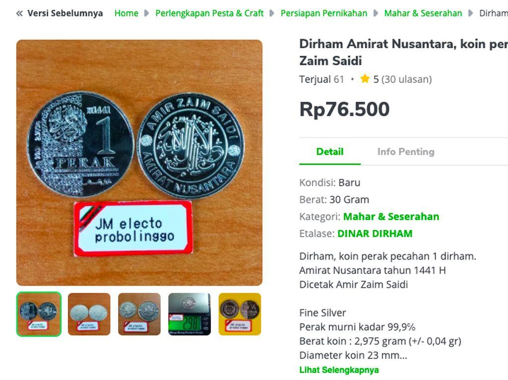 Koin Dirham Dijual di Toko Online hingga Ratusan Ribu Rupiah