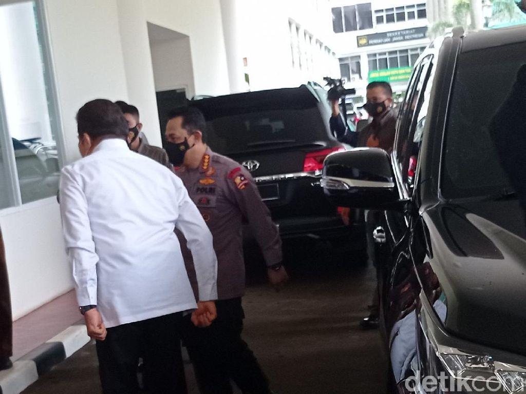 Kapolri Jenderal Sigit Sambangi Kantor Jaksa Agung ST Burhanuddin