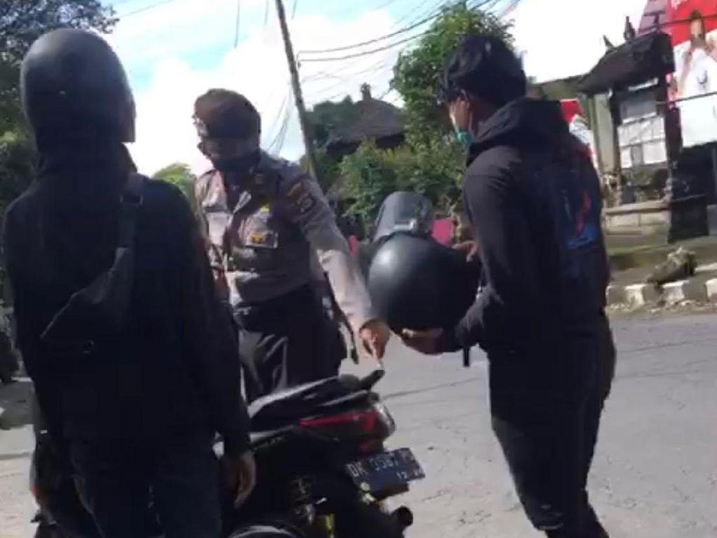 Video Polisi Ngegas Motor Knalpot Racing Viral, Ini Kata Polres Badung
