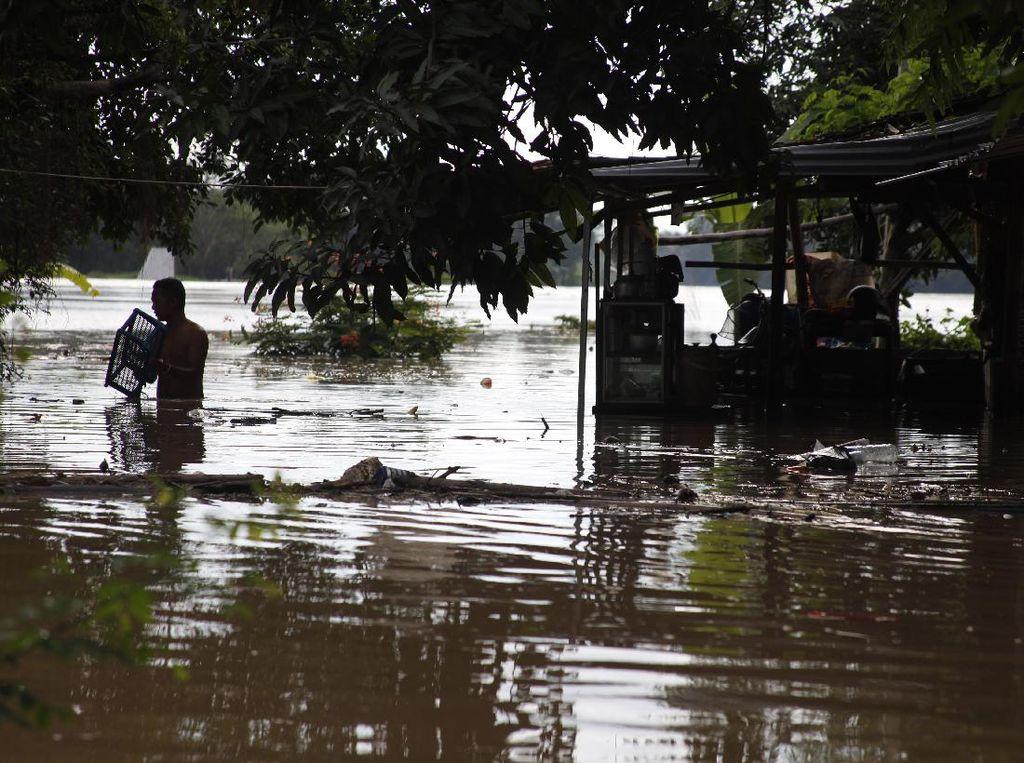 Sungai Bengawan Solo Meluap, Kampung Sewu Kebanjiran