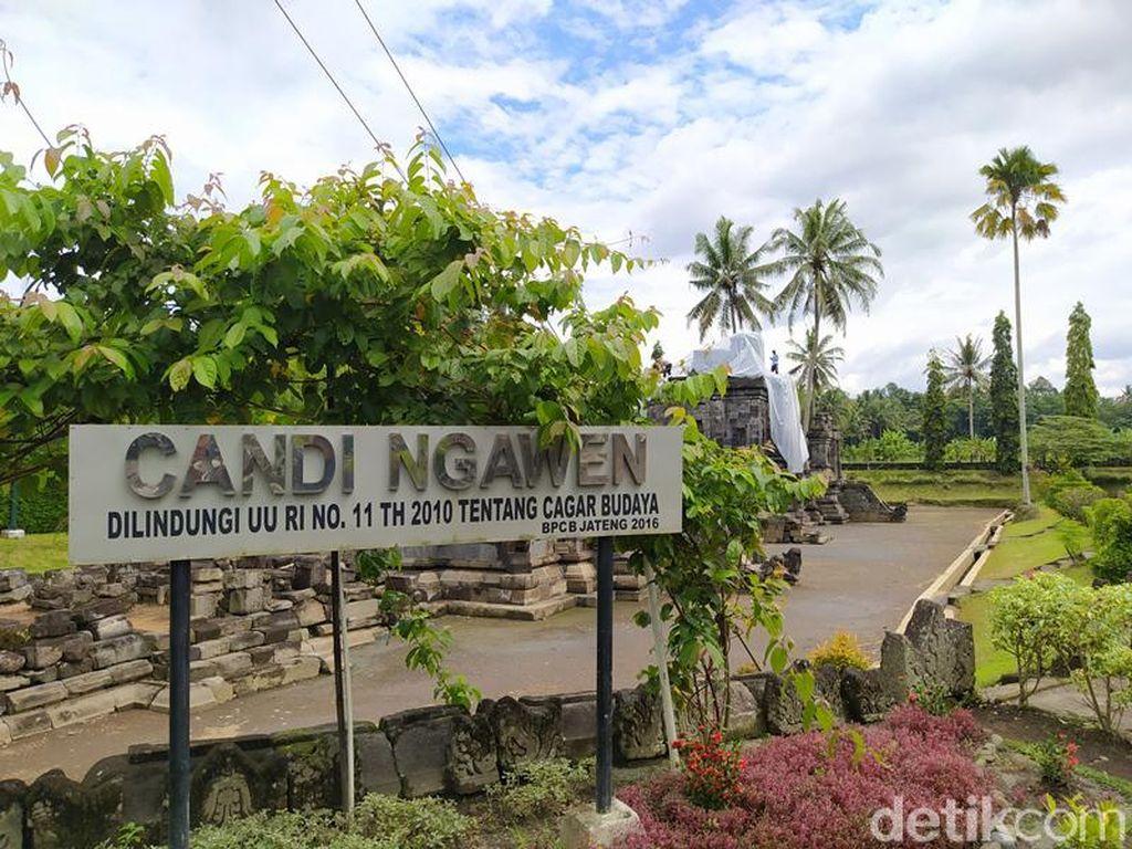 Antisipasi Hujan Abu Gunung Merapi, Candi Ngawen Ditutup Plastik