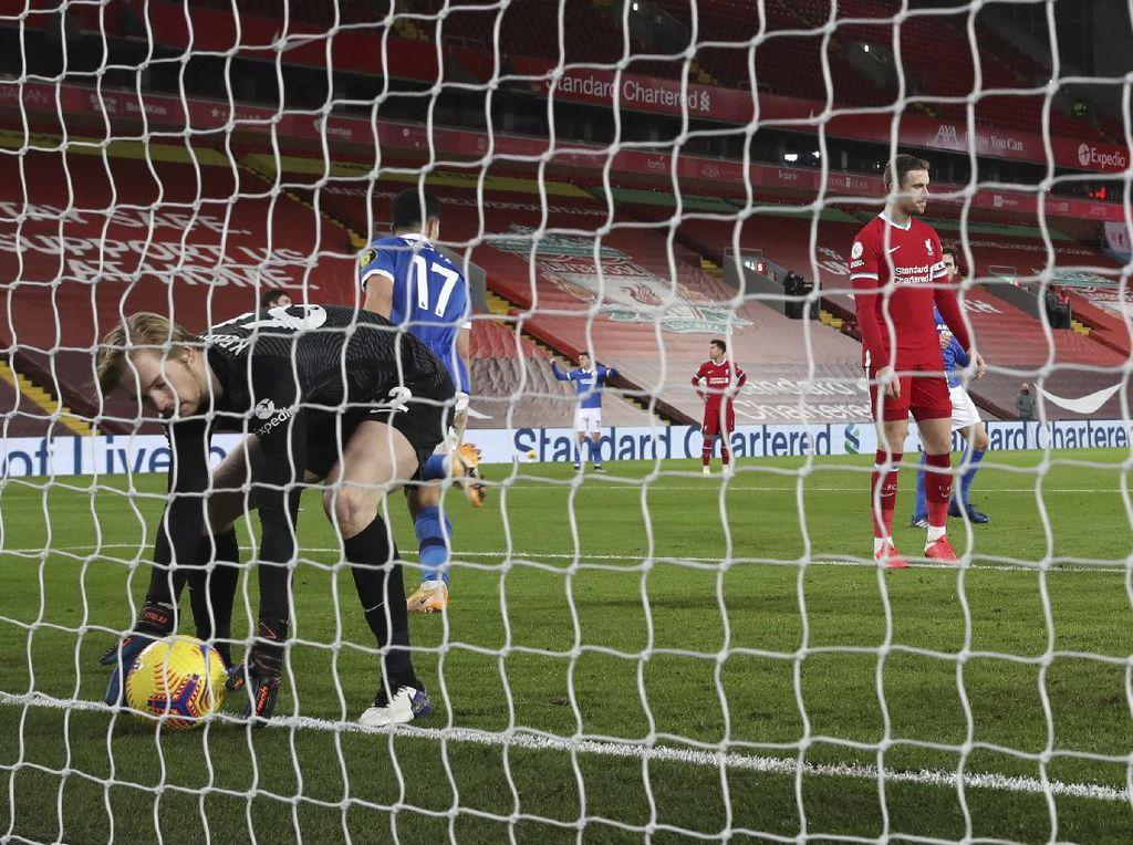 Momen Gol Semata Wayang Buat Liverpool Tumbang di Kandang
