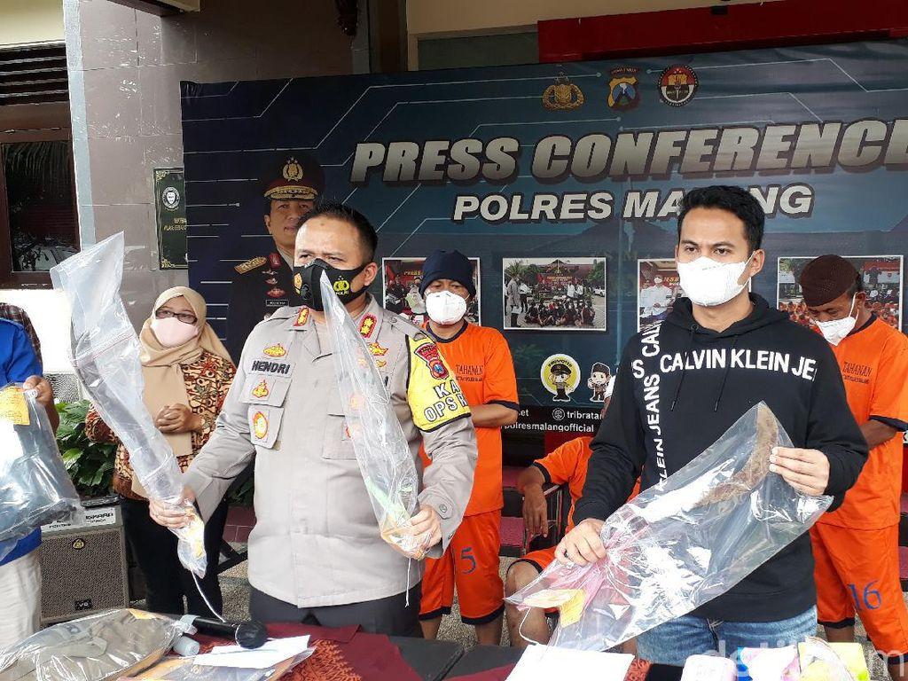 Carok di Malang Tewaskan Kasun dan Anaknya, 3 Pelaku Dijerat Pasal Berlapis