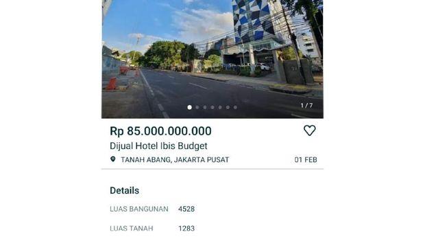 hotel dijual
