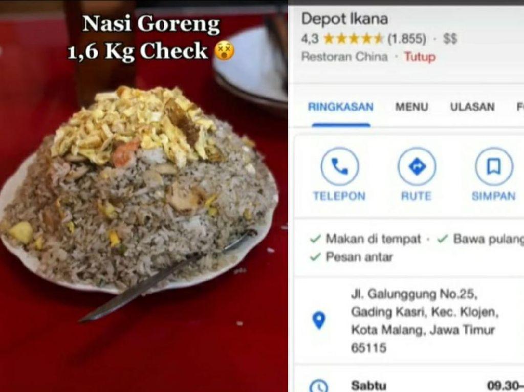 Viral Nasi Goreng 1,6 Kilogram, Harganya Cuma Rp 30 Ribuan!