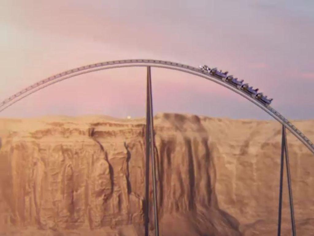 Roller Coaster Tercepat, Tertingi dan Terpanjang Akan Dimiliki Arab Saudi