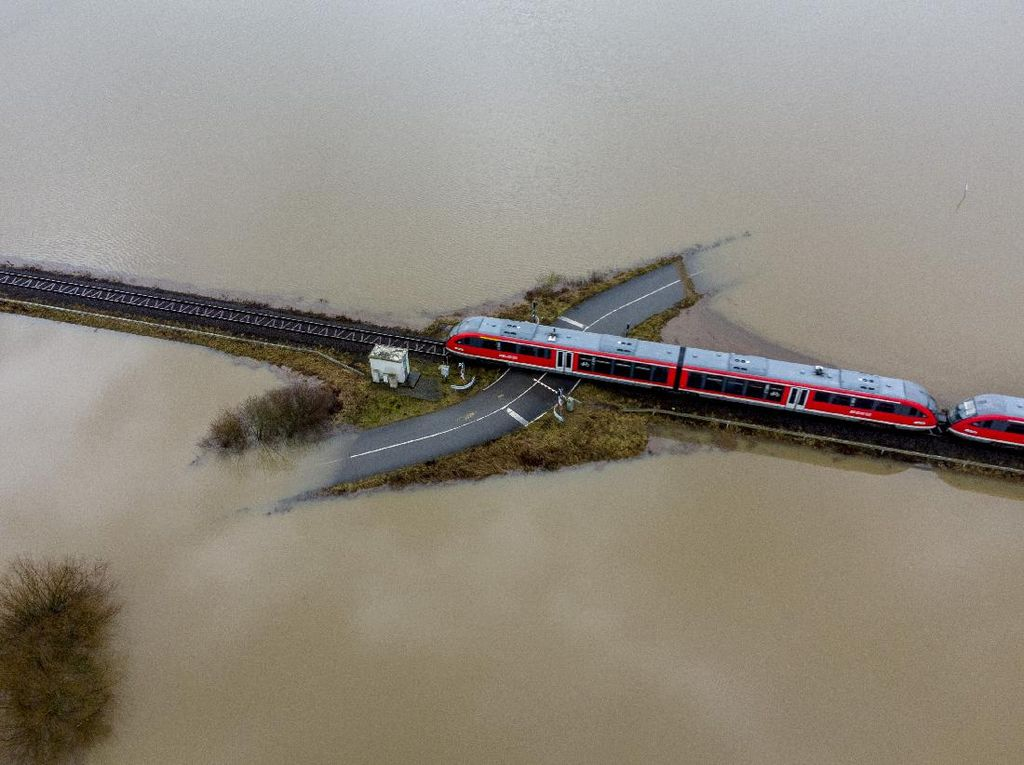 Salju Mencair, Banjir Bandang Rendam Wilayah Jerman
