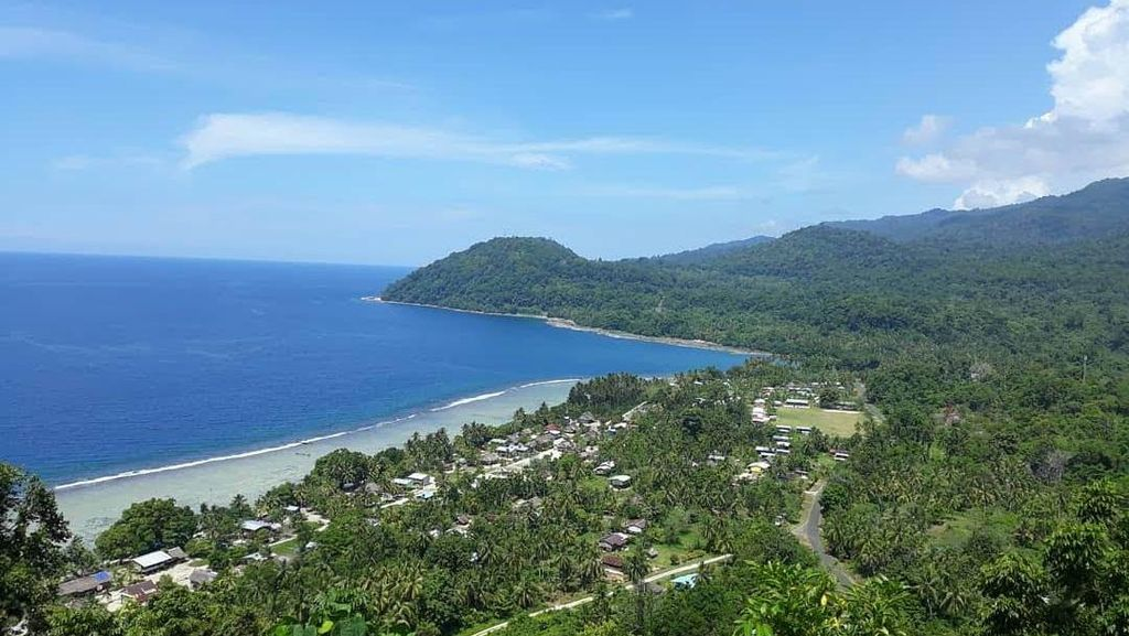Foto: Wajah Cantik Skouw, Perbatasan Indonesia-Papua Nugini