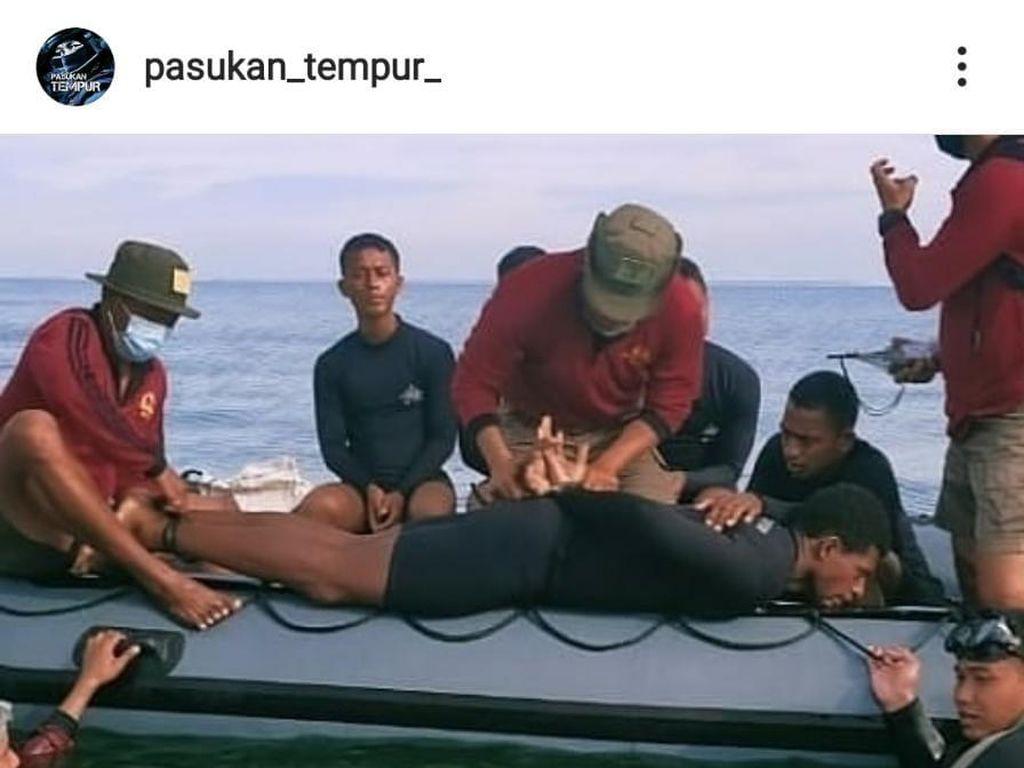 Ekstrem Latihan Prajurit Khusus TNI AL: Berenang Terikat-Merayap Ditembaki